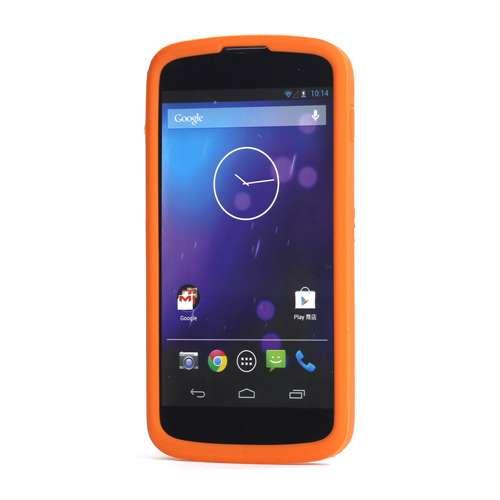 Silicone Hoesje LG Google Nexus 4 Oranje