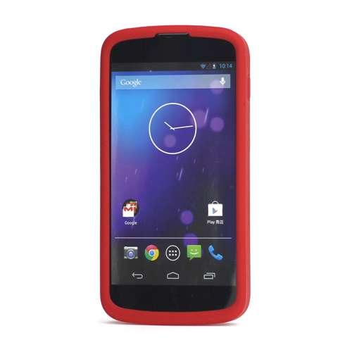 Silicone Hoesje LG Google Nexus 4 Rood