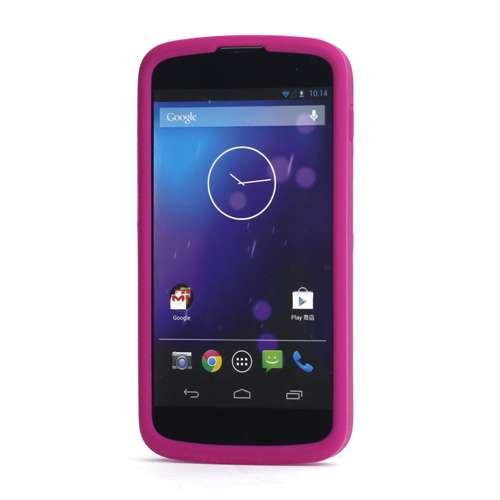 Silicone Hoesje LG Google Nexus 4 Rose