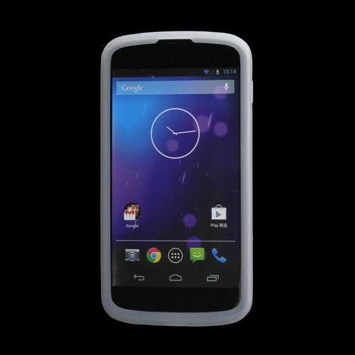 Silicone Hoesje LG Google Nexus 4 Wit