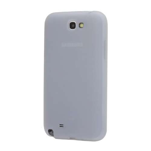 Silicone Hoesje voor Samsung Galaxy Note 2 N7100 Wit