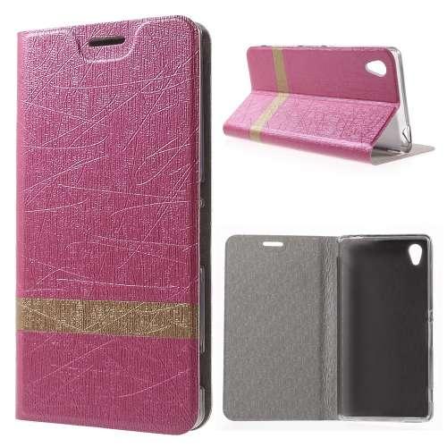 Sony Xperia M4 Aqua Beschermhoesje Boekvorm Roze