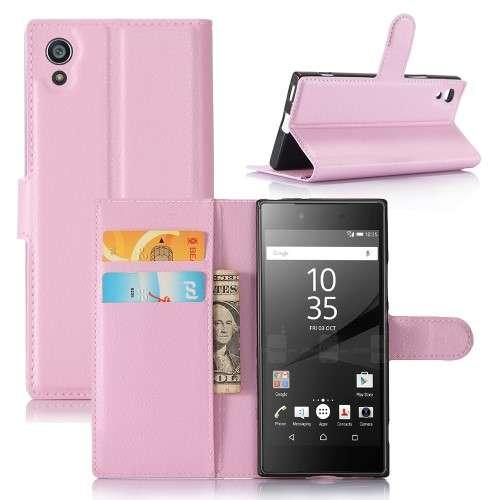 Sony Xperia XA1 Hoesje Lichtroze met Opbergvakjes