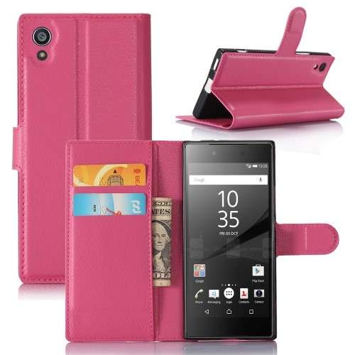 Sony Xperia XA1 Hoesje Roze met Opbergvakjes