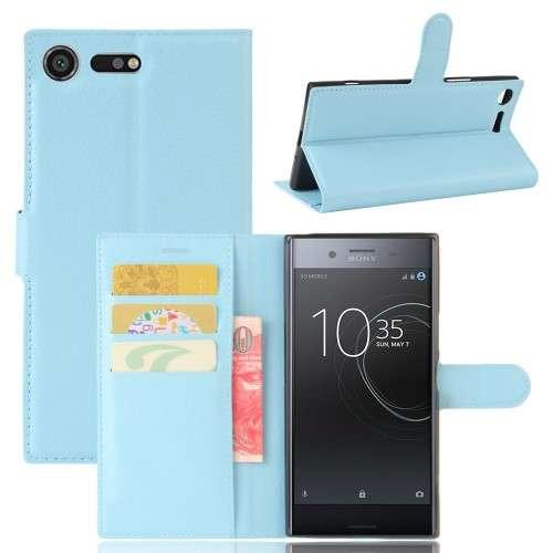 Sony Xperia XZ Premium Hoesje Blauw met Opbergvakjes