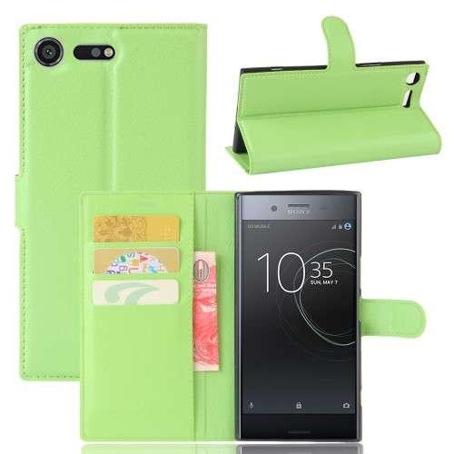 Sony Xperia XZ Premium Hoesje Groen met Opbergvakjes