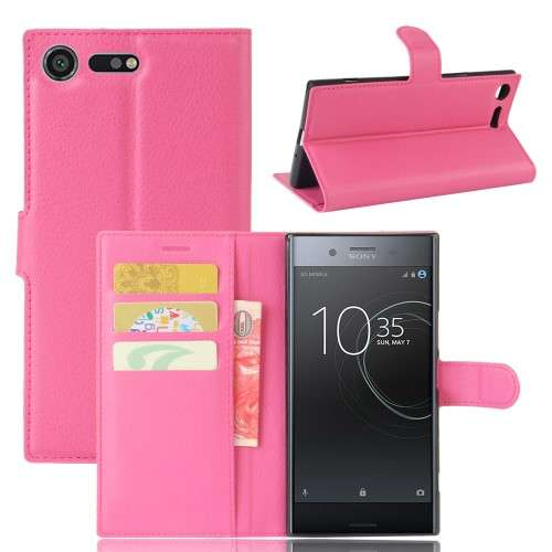 Sony Xperia XZ Premium Hoesje Roze met Opbergvakjes