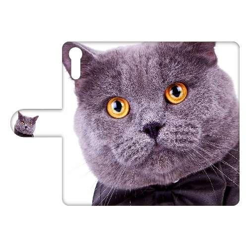 Sony Xperia XZ Uniek Design Hoesje Kat met een strikje