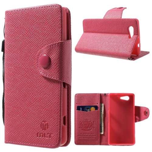 Sony Xperia Z3 Compact Hoesje Roze met Opbergvakjes
