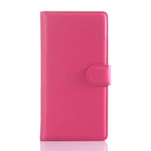 Sony Xperia Z5 Beschermhoesje Roze met Opbergvakjes
