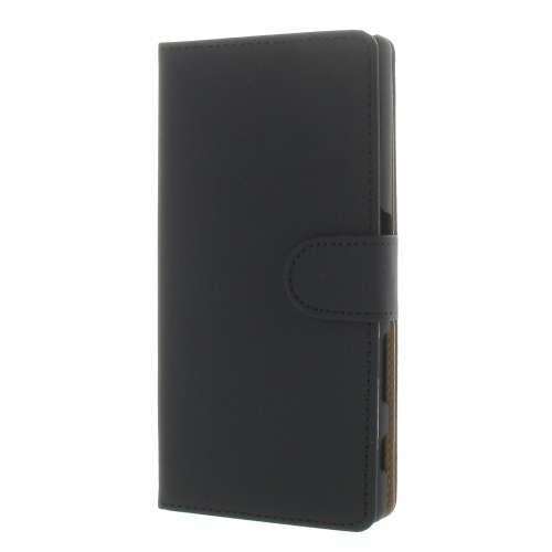 Sony Xperia Z5 Boekhoesje Zwart Met Opbergvakjes