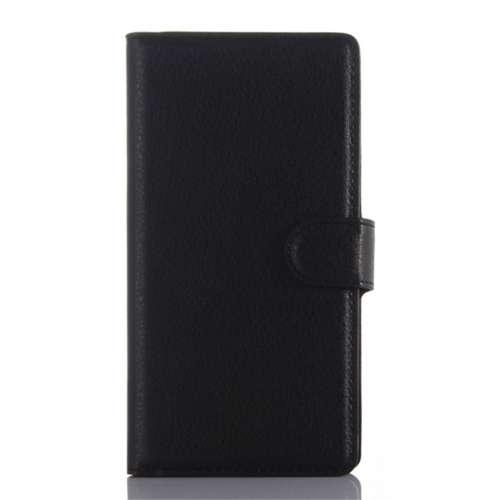 Sony Xperia Z5 Compact Beschermhoesje Zwart met Opbergvakjes