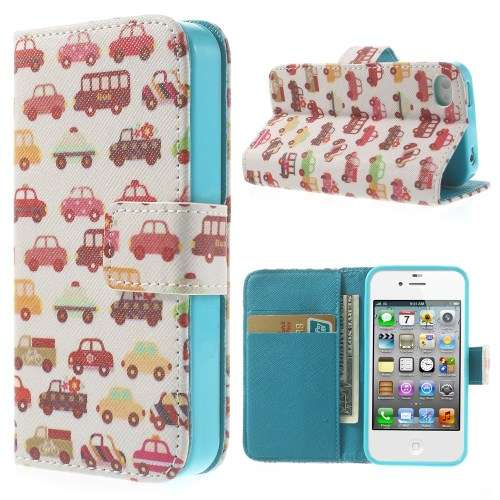 Stand Hoesje Apple iPhone 4-4S Auto's