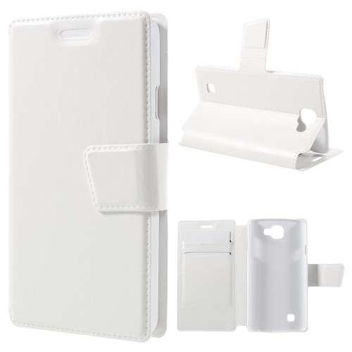 Telefoonhoesje LG K4 Wit in Boekvorm met Opbergvakjes, K120E