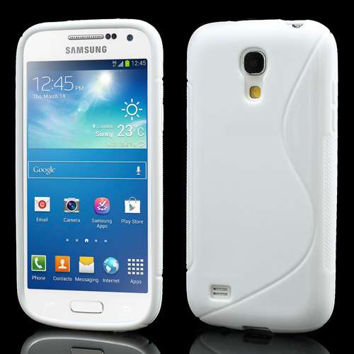 TPU Case Galaxy S4 Mini i9190 S-Line Wit