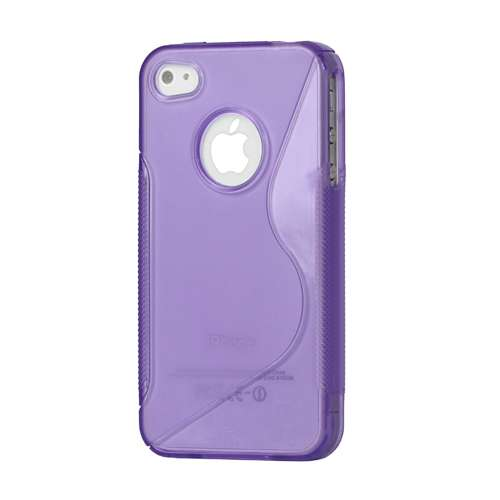 TPU Hoesje Apple iPhone 4-4S Paars
