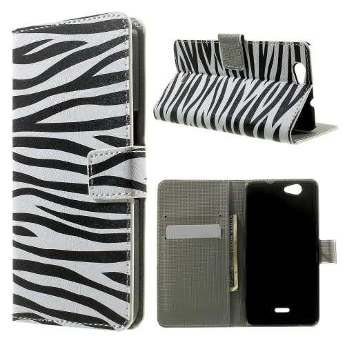 Wiko Highway Stand Case Hoesje Zebra